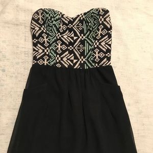 Sugarlips Strapless Black Dress Size: S